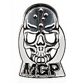 Madd Gear MGP Headtube Skull Logo Badge - Silver