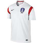 2014-15 South Korea Away World Cup Football Shirt - White