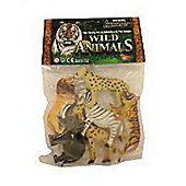 Pack of 6 Wild Animlas
