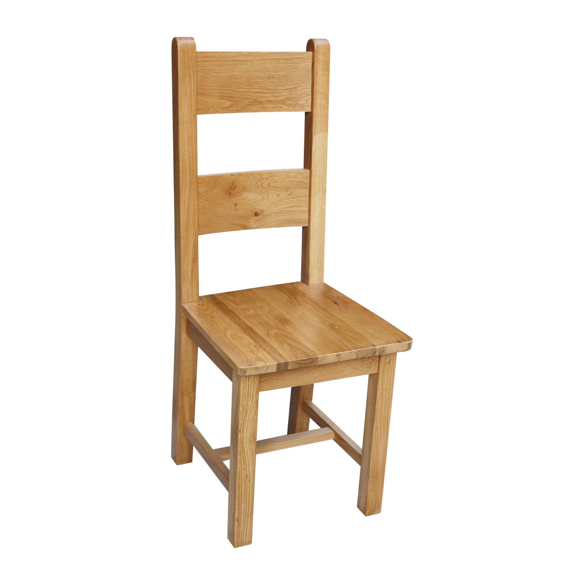 Thorndon Taunton Dining Chair with Wooden Seat Pad in Rustic (Set of 2)