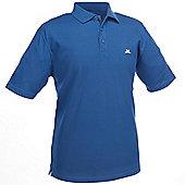 John Letters Mens Ailsa Pique Golf Polo Shirt - Blue