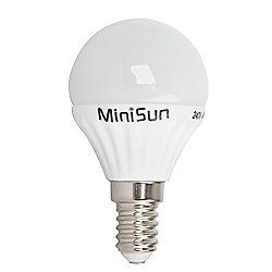MiniSun E14 4W LED Golfball Bulb 6500K Cool White / Daylight