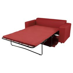 Stanza Leather Effect Sofabed Red