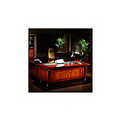 Colosseum Contemporary Executive Desk - 76cm H x 200cm W x 100cm D