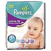 Pampers Active Fit Size 3+ Essential Pack - 40 nappies