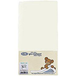 DK GloveSheet Chicco Next 2 Me/ Lullago Mattress Sheet - Cream