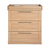 Mamas & Papas - Rialto Dresser with changer - Natural Oak Effect