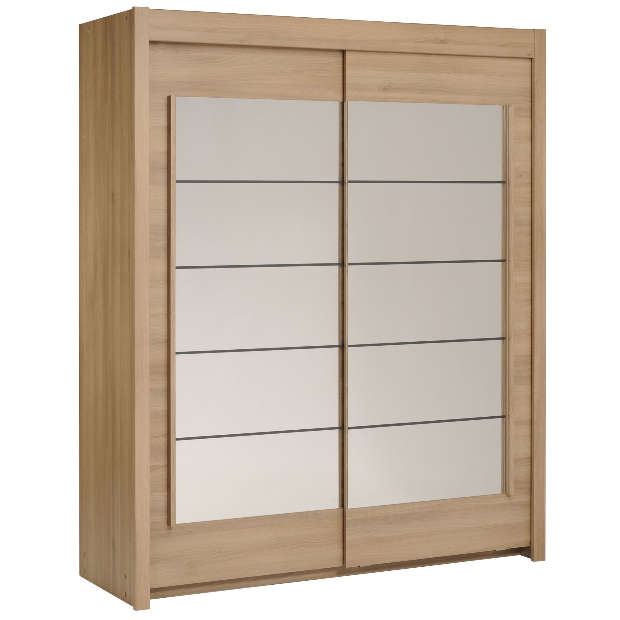 Parisot Split Wardrobe - Smoked Acacia at Tesco Direct