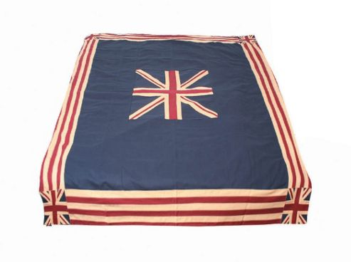 Woven Magic Union Jack Patriotic Duck Table Cloth - Large
