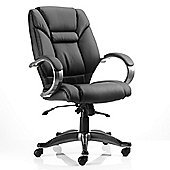Maestro Galloway Leather Chair - Black