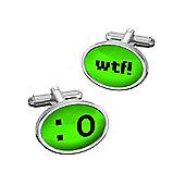 Sub Text Text Talk Cufflinks - WTF By WD London