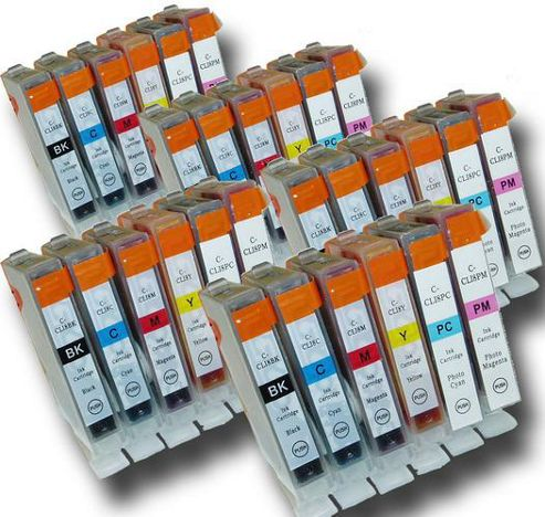 30 Chipped Compatible Canon CLI-8 Photo-Pack Ink Cartridges