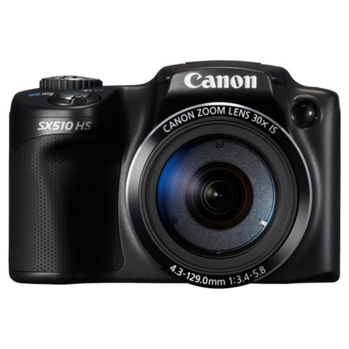Canon Powershot SX510 Digital Camera, Black, 12.1MP, 30x Optical Zoom, 3
