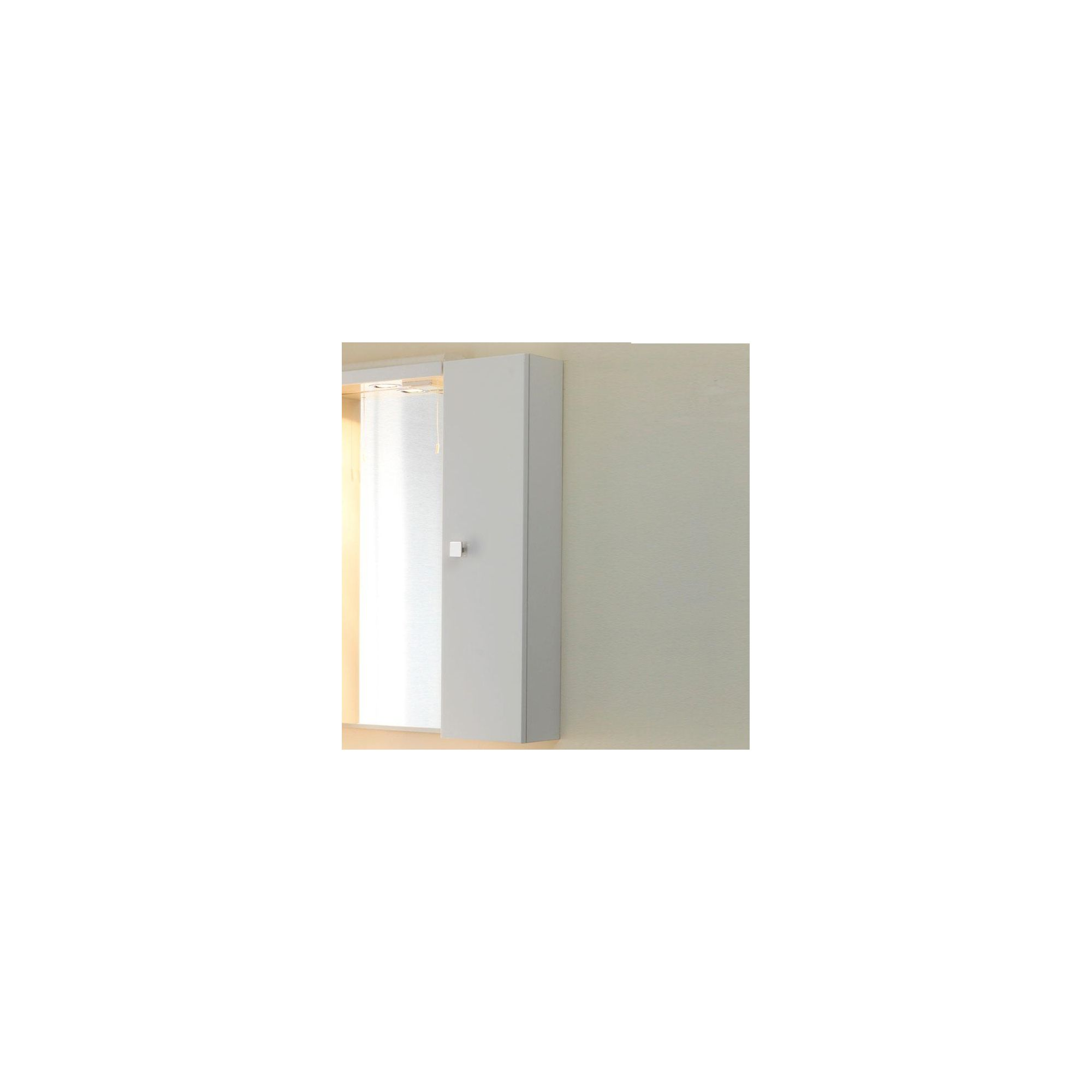 Duchy Trevail White Wall Hung 1 Door Storage Cupboard - 200mm Wide x 167mm Deep