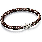 Fred Bennett brown and grey nylon bracelet