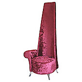Home Essence Luxury Velvet Potenza Chair in Crimson