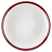 Two Tone Side Plate, Stoneware, Red