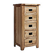 Westbury Reclaimed Oak 5 Drawer Wellington