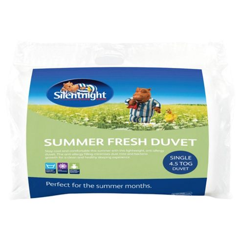 Silentnight Summer Fresh Flow 4.5 Tog Single Duvet With 1 Pillow