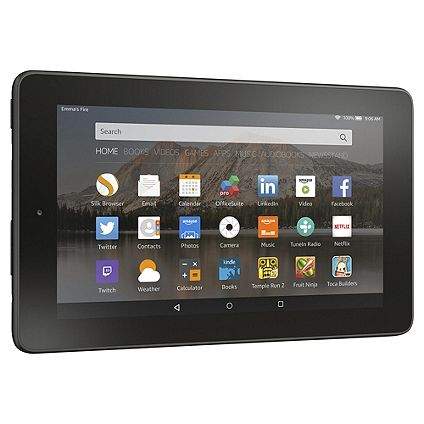 The Amazon Fire 7, 7 inch 8GB Tablet available on Tesco Direct