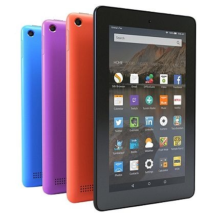 Amazon Fire 7 Tablet available in a range of colours