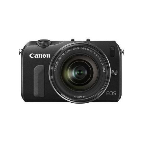 Canon EOS M (18MP) Digital SLR Camera 30 inch LCD (Black) + EF-M 18-55 Lens