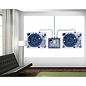 1Wall X-Ray DJ Decks Wall Mural