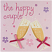 Fashionista Happy Couple Wedding Card