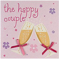 Fashionista Happy Couple Wedding Card