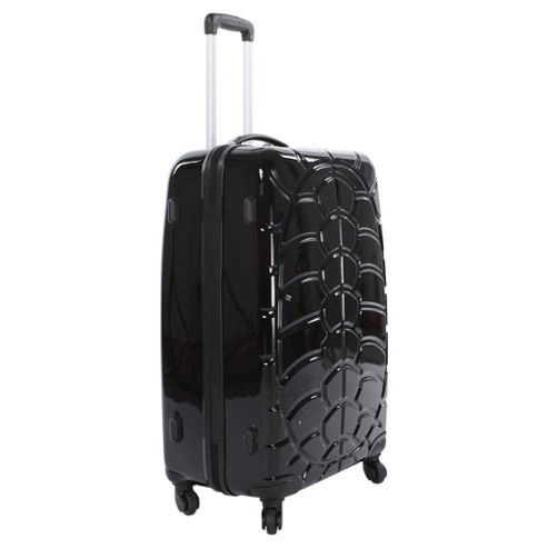 Beverly Hills Polo Club 4-Wheel Hard Shell Suitcase, Black Gloss Medium