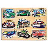 Melissa & Doug Classic Vehicles Sound Wooden Puzzle