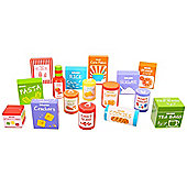 Bigjigs Toys BJ363 Wooden Play Food Groceries