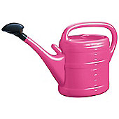 10L Pink Plastic Garden Watering Can with Rose
