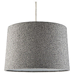 Tapered Drum Woven Lamp Shade, Dark Grey