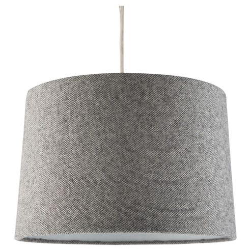 Buy Tapered Drum Woven Lamp Shade Dark Grey From Our