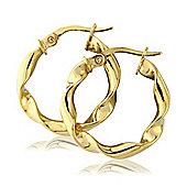9ct Yellow Gold Twisted Hoop earrings Earring