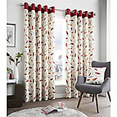 Fusion Beechwood Curtains - Red