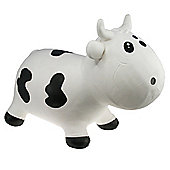 Bella Inflatable Cow Space Hopper - White & Black