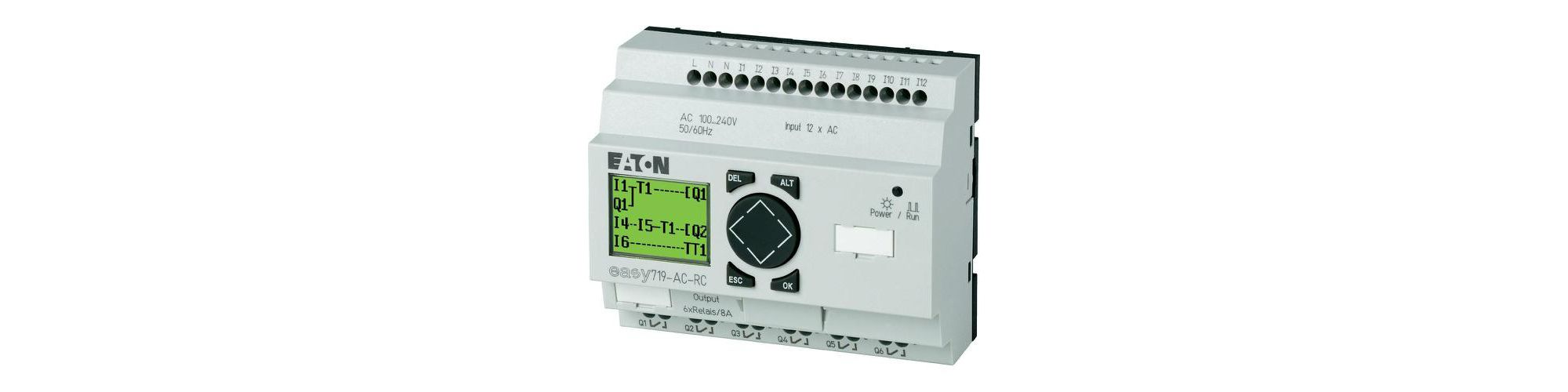 Programmable relays; out1 electrparam:8a; inputs:12; outputs:6; easy819-ac-rc