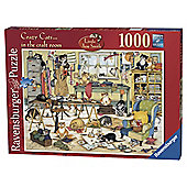 Ravensburger Crazy Cats in the Craft Room 1000-Piece Jigsaw Puzzle