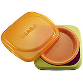 Beaba Trainer Plate Green and Orange