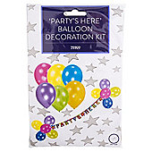 Partys Here Balloon Decoration Kit