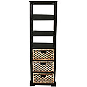 Techstyle Tall Storage Unit - Brown / Black
