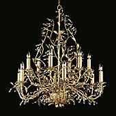 Impex Lighting Italiano 12 Light Chandelier in Cream/Gold