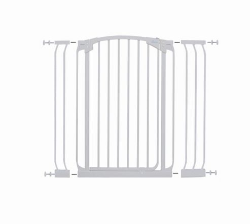Dream Baby Extra-Tall Swing Close Security Gate with Extensions - White