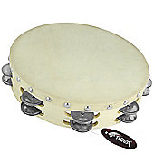 "Tiger 10"" Double Row Wood Tambourine"