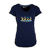 Nice Weather For Ducks Women's Cotton Tee-Shirt - Navy