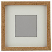 "Tesco Basic Photo Frame Oak Effect 7 x 7""/4 x 4""with Mount"