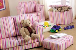 Just 4 Kidz Kids 60cm Loose Cover Sofa - Candy Stripe