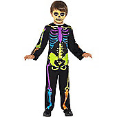 Child Punky Neon Skeleton Costume Toddler